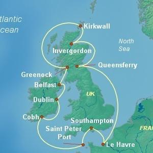 イギリス周遊するクルーズを調べてみた