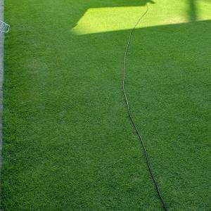 今日はハイパーグリーンモアーで芝刈りーw