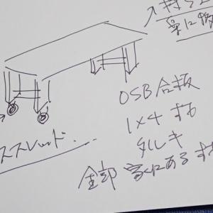 OSB合板でキャスター付きローテーブル自作【No.1設計図とテーマ】