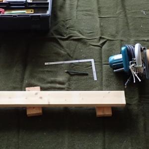 OSB合板でキャスター付きローテーブル自作【No.2現物合わせで自作の様子】