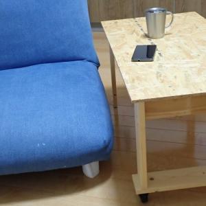 OSB合板でキャスター付きローテーブル自作【No.3完成!】