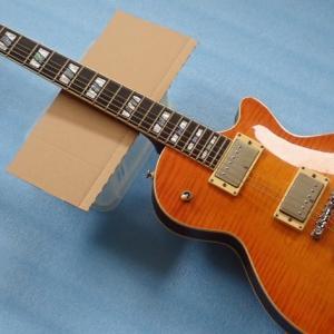 レスポールタイプのエレキギター入手、リフィニッシュのため分解しました。