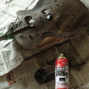 レスポールタイプ、リフィニッシュNo7【ラッカー塗装はじめました】