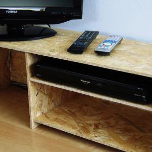 構造用OSB合板でおしゃれで簡単なテレビラック作成