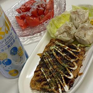My肴☆お好み焼き、焼売、トマトシラスサラダ、チキンナゲット☆