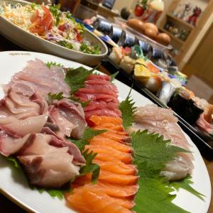 三太郎、お疲れさん!食べたいもんで、夜ごはん〜☆