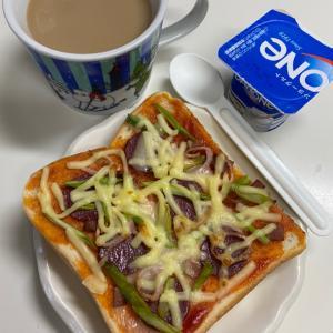 三太郎もワタシもピザトースト♡