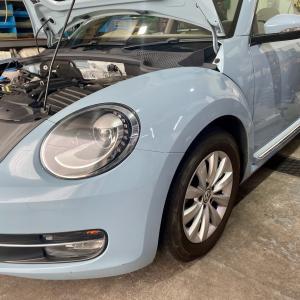 VW  THEビートル電動ファンモーター交換!大阪府、奈良県、京都府、兵庫県、ワーゲン修理