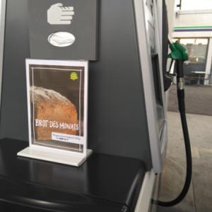 ガソリンスタンドのパン