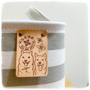 福箱④+オマケ♪ レザーバーニング♪ 北海道犬・はなちゃん&ゆめちゃん♪