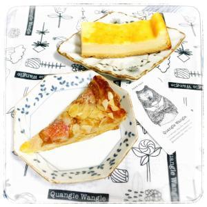 スタバの フランス産アップルのタルトと Quangle Wangleさんの予約焼き菓子!