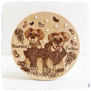 ウッドバーニング♪ 木製木蓋のキャニスター!クラレちゃん & 福ちゃん♪