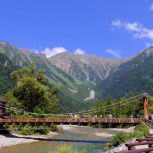 上高地2020年9月(1)服装と河童橋