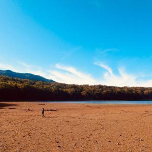 息子と遊ぶ 八岳滝 雨池