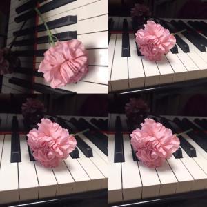 ピアノ写真シリーズ✨ピアノと花9