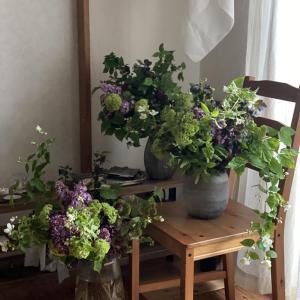 Caffe GIUSTO 「季節を愛でるように花を束ねる会 」