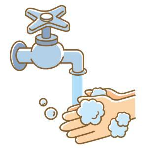 感染症予防には水で手をよく洗うこと