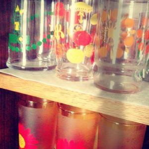 昭和なデザインのグラス達