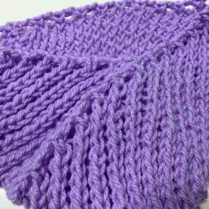 【練習】斜めかごめ編み編めました。