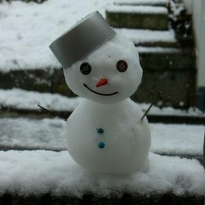寒がりの雪だるま
