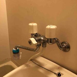 京都市左京区 浴室蛇口根本から水漏れ お任せ下さい‼️