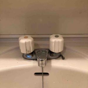 京都市左京区 洗面蛇口水漏れ お任せ下さい‼️