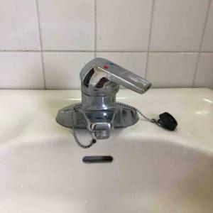 京都市上京区 洗面蛇口水漏れ お任せ下さい‼️