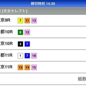 本日のWIN5の予想(10/14)
