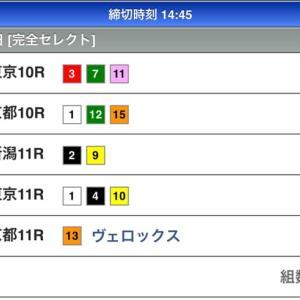 本日のWIN5の予想(10/20)