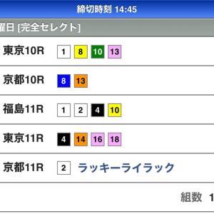 本日のWIN5の予想(11 /10)