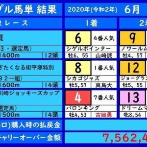 川崎トリプル馬単の結果(6/12)