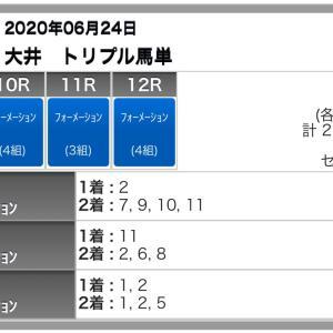 大井トリプル馬単の予想(6/24)