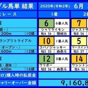 大井トリプル馬単の結果(6/25)