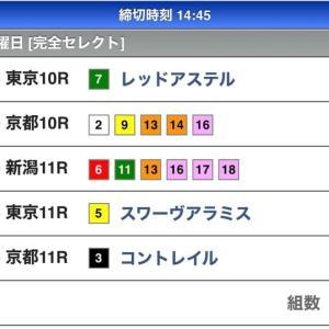 本日のWIN5の予想(10/25)