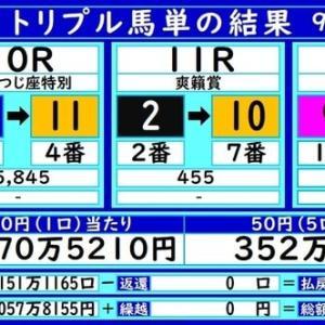 大井トリプル馬単の結果(9/19)