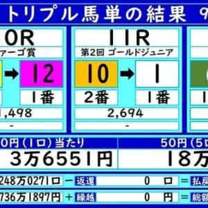 大井トリプル馬単の結果(9/20)