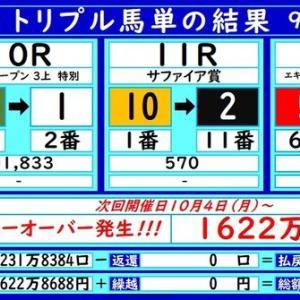 大井トリプル馬単の結果(9/22)