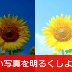 フリーソフトで写真を簡単に明るくする方法