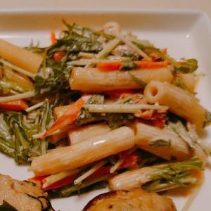 無限∞水菜のマカロニサラダ。思いつきで作ったけど思いの外美味しかったシリーズ