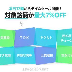 LINE証券タイムセールとBITMAX3週目でプチ稼ぎ♡