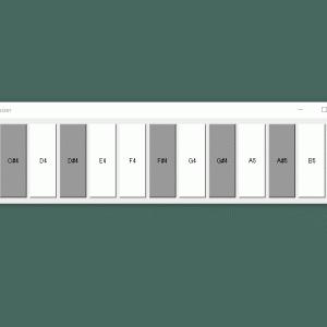 PyQt5のQPushButtonで作る簡易ピアノ鍵盤