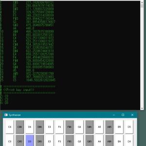 PyAudioとPyQtで作る簡易シンセサイザ
