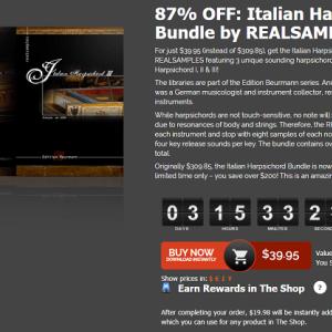 チェンバロ(ハープシコード)音源 Italian Harpsichord Bundle (REALSAMPLES) のインストール・導入方法