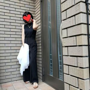 初夏のオールブラックコーデ 今しか着られないものを着よう!