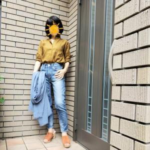 【ユニクロ感謝祭】リネンシャツに昔ママがはいていたジーンズで