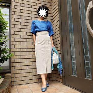 品良く着映え 夏のコバルトブルー&ホワイト