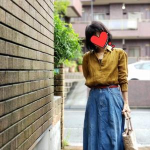 秋色リネンシャツとシワ伸ばしあの手この手