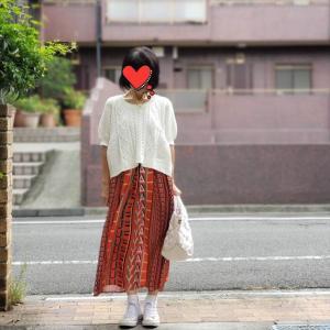 アラカンを美人に見せる!?ツヤ素材のきれい色スカート