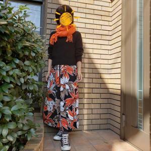 背高見えがかなう小柄な大人のストールアレンジ