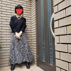 おしゃれなんてめんどくさい派におすすめのモノトーン柄スカート